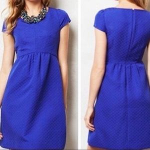 HD in Paris Blue Dress Capped Sleeve Size 0